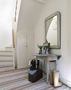 I totally want that mirror! from Modern Country Style blog: Summer Home Tour In Demark