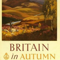 #autumn #october #blighty #britishcountryside 🎃🍁🌰🍂Charming vintage poster, I always love these illustrations