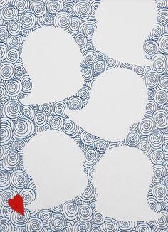 """andrea mattiello """"ecstasy bubbles"""" pennarello e collage su cartoncino cm 25x35; 2013 #art #arte #contemporanea #disegno #drawing #collage #paper #artista #emergente"""