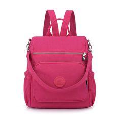 Find More Backpacks Information about Fashion Women Nylon Backpack Schoolbag  For Teenage Girls Rucksacks Travel Shoulder d47b1c29f3