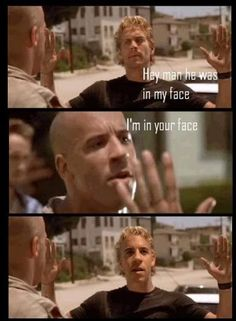 For my mom.The biggest Vin Diesel fan I know Furious Movie, The Furious, Vin Diesel, Fast And Furious Memes, Stupid Funny Memes, Hilarious, Dominic Toretto, Car Memes, Fast And Furious