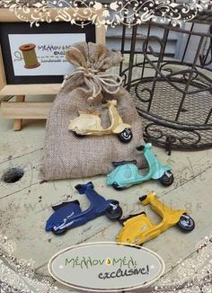 vespa Vespa, Baptism Ideas, Cake Cookies, Christening, Burlap, Reusable Tote Bags, Collection, Packaging, Holidays Events