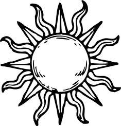 sun line art - Google Search