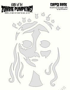 Corpse Bride pumpkin Stencil:                                                                                                                                                                                 More