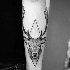 geometric deer / elk