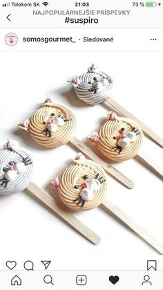 Cute for an animal themed party! Meringue Desserts, Meringue Cookies, Cute Desserts, Cake Cookies, Cupcake Cakes, Meringue Food, Cake Pops, Boite A Lunch, Edible Gifts