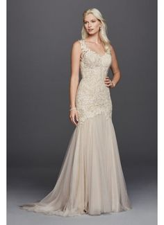 07770244f5 As-Is Petite Beaded Venice Scalloped Wedding Dress AI26180008 Wedding Gowns