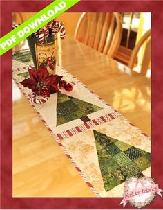 O Christmas Tree Table Runner Pattern: You'll be humming along with this O Christmas Tree table runner designed by Jennifer Bosworth for Shabby Fabrics. Finishing to 12 x this table runner uses green scraps to make patchwork Christmas trees. Table Runner And Placemats, Table Runner Pattern, Quilted Table Runners, Christmas Patchwork, Christmas Sewing, Christmas Crafts, Christmas Quilting, Christmas Tree Quilt Pattern, Purple Christmas