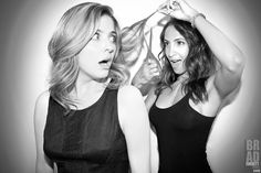 'Let's Play Beauty Shop!' @Jen_Lilley of @NBCDays & @ChristelAdnana of @YoungAndRestlessCBS for #DreamLoudOfficial. Who says there's a feud amongst Daytime's Most Talented Divas? You can totally see from this pic they ALL get along just swell! ;) / Photograph By @Bradley206 #BradEverettYoung DreamLoudOfficial.com / #DreamLoud #JenLilley #ChristelKhalil #DaysOfOurLives #NBC #CBS #TheYoungAndTheRestless #BeautyShop #Sony #SonyImages @SonyImages / Photo taken w/ the @SonyAlpha #A3000