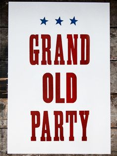 Grand Old Party // $42