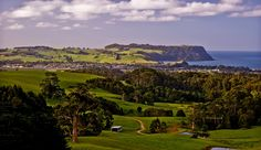 Serene rural scene (NorthWest Tasmania at Table Cape) and the small city of Wynyard.  Image Credit with thanks: Carol Haberle.