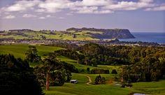 Serene rural scene (NorthWest Tasmania at Table Cape) and the small city of Wynyard.  Image Carol Haberle.