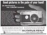 Olympus Pen-F Camera 1965 Ad Picture