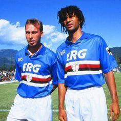 David Platt & Ruud Gullit Sampdoria 1993-1995  #Platt #Gullit #Sampdoria #SerieA #england #netherlands #calcio #samp by retro_football_photo