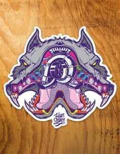 """#BoostBeast - Boost Beast Design - Die Cut Full Color 4"""" Sticker - Sticker is is made of thick, durable vinyl with a UV laminate that protects stickers from scratching, rain and sunlight."""