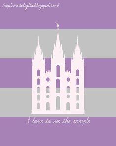Naptime Delights: Salt Lake City Temple Print{s} -- love the modern look!