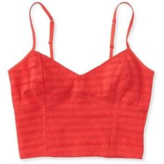 NWOT Aeropostale Bustier top NWOT Aeropostale eyelet bustier top. Cotton, lined. Fits TTS with a bit of stretch. Bold red, never worn. Aeropostale Tops Crop Tops