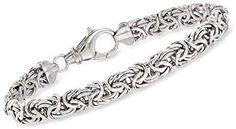 Ross-Simons Sterling Silver Small Byzantine Bracelet For Women