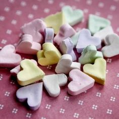 Make your own homemade conversation candy hearts.