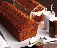 Cake with truffes filling