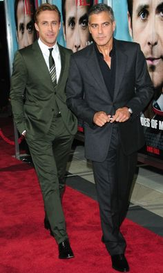 Ryan Gosling and George Clooney attend 'The Ides Of March' Los Angeles premiere, September 28, 2011.