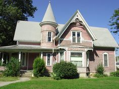 Only in the Victorian era would a smaller house like this one get such lavish decorative treatments.