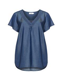 Zizzi Denim-Shirt  in Blau