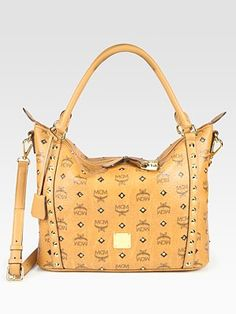 #MCM - 24K Gold Studded Coated Canvas Shopper. I used to have a few MCM handbags, I wonder what happened to them?!...