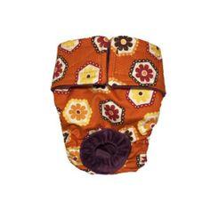 Orange Daisy Washable Dog Diaper