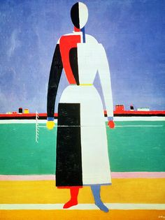Woman with a Rake (20th century) Kazimir Malevich / BoFransson, via Flickr