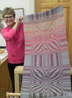 Handwoven Wall Hanging of 5/2 Pearl Cotton in Beyond Beginning Weaving with Nancy Adams at Sievers