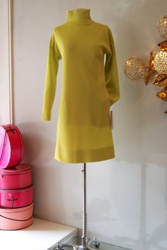 60's Dress// Vintage 1960's Turtleneck Shift by by xtabayvintage, $125.00