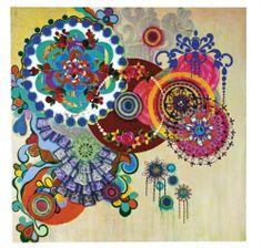 Dança Dos Reis - Beatriz Milhazes Jewel colors!