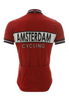 Amsterdam Cycling retro wielershirt zwart