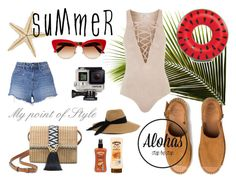 """""""""""Aloha Travels"""" Aloha Bahamas!"""" by mypointofstyle ❤ liked on Polyvore featuring Topshop, T By Alexander Wang, Stella & Dot, Dolce&Gabbana, Hawaiian Tropic, Eugenia Kim, Big Mouth, GoPro and alohastravels"""