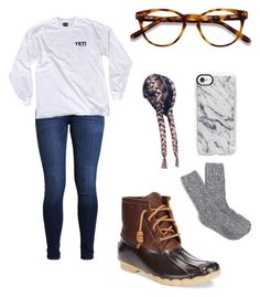 """"""""""" by kaelyn-grace-1 on Polyvore featuring Hollister Co., J.Crew, Sperry, EyeBuyDirect.com and Casetify"""