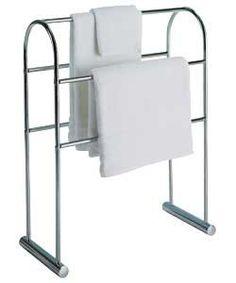 Traditional Curved Towel Rail - Chrome.