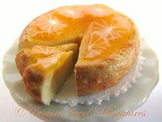 OOAK Orange Cheesecake On White Bakery