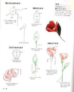 Полезный блог: МК Цветы из тканы = выкройка