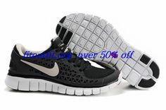 super popular 14c5d d10f0 2013 New Mens Nike Free Run Black White Shoes Running Shoes Store