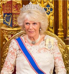From Her Majesty's Jewel Vault: The Duchess of Cornwall's Four Strand Pearl Chokers with Diamond Clasps