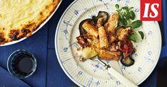 Jauhelihakastiketta, pastaa ja kerros valkokastiketta. Kreikkalainen pasticcio ei jätä ketään nälkäiseksi. Koti, Penne, Chicken, Meat, Lasagna, Pens, Cubs
