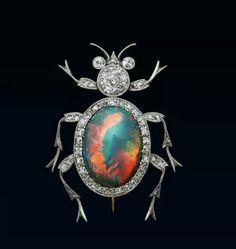 Opal and diamond brooch circa 1905