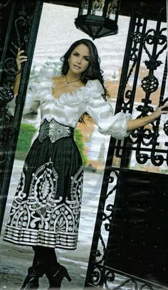 Lucero. Mexican Costume, Mexican Outfit, Mexican Party, Traditional Mexican Dress, Traditional Dresses, Charro Outfit, Mexican Quinceanera Dresses, Vestido Charro, Mexican Skirts