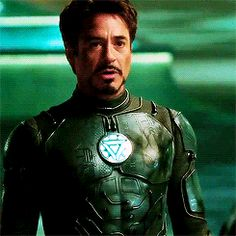 from a deleted scene from Iron Man where Tony comes out of his suit to barter with Vanko. Tony Stark Gif, Marvel Tony Stark, Iron Man Tony Stark, Marvel Characters, Marvel Heroes, Marvel Dc, Robert Downey Jr Gif, Lron Man, Tony And Pepper