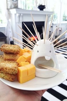 Delivers food and conversation. Meet the Patrick the toothpick holder