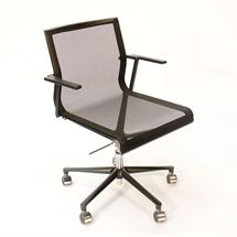 Kontorstol.  ICF. UNA Office chair.  Sort mesh. Sort base.  Varen fremstår som ny.