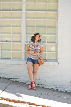 4th of july outfit ideas, striped tee outfits - @My Style Vita | Fashion & Lifestyle Blog