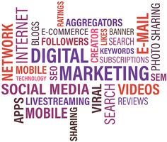 It is the new age marketing mantra, which takes the help of electronic media channels or the internet. It includes all the modes like search engines, social media sites, email marketing, website . Marketing Viral, Marketing Na Internet, Digital Marketing Trends, Sem Internet, Mobile Marketing, Content Marketing, Affiliate Marketing, Online Marketing, Social Media Marketing