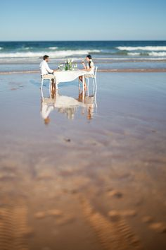 Beautiful, romantic, and intimate beach wedding #inspiration #wedding #style